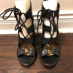 ALDO Black lace up heels size 10